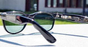 Sunglasses with semitransparent solar cells
